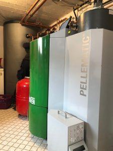 Umbau Öl- auf Pelletheizung mit Gewebetank und Frischwassermodul in Heppenheim-Erbach