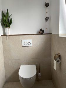nachher: Badumbau Gäste-WCs in Heppenheim
