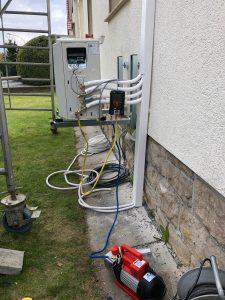 Installation einer Klimaanlage in einem Altbau in Heppenheim